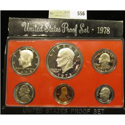 1978 S U.S. Proof Set, Original as issued. A nice attractive set with all coins exhibiting Cameo Fro