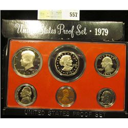 1979 S U.S. Proof Set, Original as issued. A nice attractive set with all coins exhibiting Cameo Fro