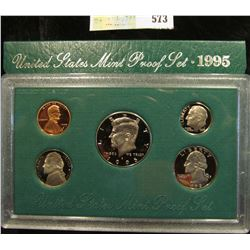 1995 S U.S. Proof Set, Original as issued. A nice attractive set with all coins exhibiting Cameo Fro
