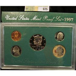 1997 S U.S. Proof Set, Original as issued. A nice attractive set with all coins exhibiting Cameo Fro