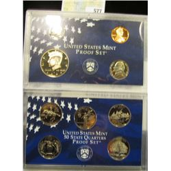1999 S U.S. Proof Set, Original as issued. A nice attractive set with all coins exhibiting Cameo Fro