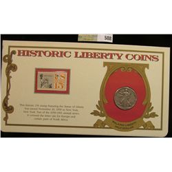 """1944 P Walking Liberty Half Dollar. Mounted in a """"History Liberty Coins"""" special holder with a """"Air"""