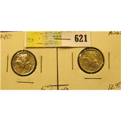 1940 P & 42 D Mercury Dimes. Both high grades.