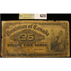 "January 2nd, 1900 ""Dominion of Canada"" .25c Fractional Bank Note."
