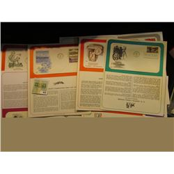 "(14) 1972-1996 First Day Covers with literature; & a 1910 Post Card from ""Continental State Bank She"