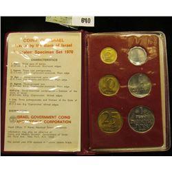 1970 Jerusalem Specimen Set Issued by the Bank of Israel.