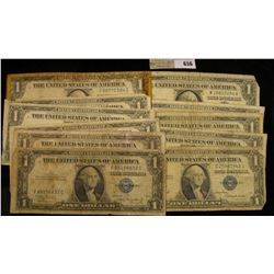 Series 1935A, B, C, D, E, F, G, H, 1957, 57A & B U.S. One Dollar Silver Certificates. (11 pcs.)