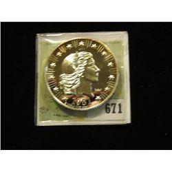 "1981 World Wide Mint Proof .999 Fine Silver ""American Eagle""."