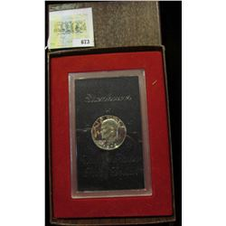 1972 S U.S. Silver Proof Eisenhower Dollar in original box as issued.