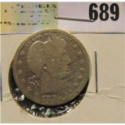 1892 O Silver Barber Quarter. Semi-key date.