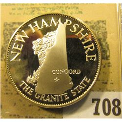 """New Hampshire The Granite State""  So-called Half-Dollar. Superb Sterling Silver Proof, 32mm, 14.15"