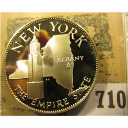 """New York the Empire State"" So-called Half-Dollar. Superb Sterling Silver Proof, 32mm, 14 grms."