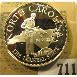 """South Carolina the Tarheel State"" So-called Half-Dollar. Superb Sterling Silver Proof, 32mm, 13.55"