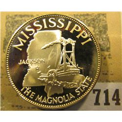 """Mississippi the Magnolia State so-called Half-Dollar. Superb Sterling Silver Proof, 32mm, 13.60 gra"