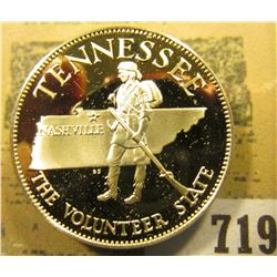 """Tennessee the Volunteer State"" So-called Half-Dollar. Superb Sterling Silver Proof, 32mm, 13.74 gra"