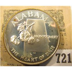 """Alabama the Heart of Dixie"" So-called Half-Dollar. Superb Sterling Silver Proof, 32mm, 14.86 grams."