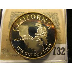 """California the Golden State"" So-called Half-Dollar. Superb Sterling Silver Proof, 32mm, 14.78 grams"