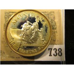 """Montana the Treasure State"" So-called Half-Dollar. Superb Sterling Silver Proof, 32mm, 14.47 grams."