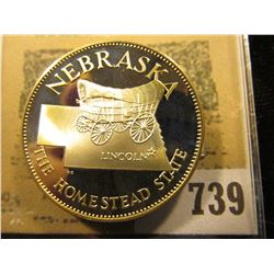 """Nebraska the Homestead State"" So-called Half-Dollar. Superb Sterling Silver Proof, 32mm, 13.82 gram"