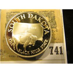 """South Dakota the Black Hills State"" So-called Half-Dollar. Superb Sterling Silver Proof, 32mm, 13.6"