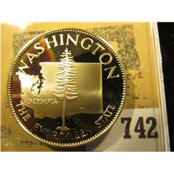 """Washington the Evergreen State"" So-called Half-Dollar. Superb Sterling Silver Proof, 32mm, 14.08 gr"