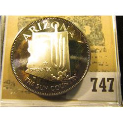 """Arizona the Sun Country"" So-called Half-Dollar. Superbly toned Sterling Silver Proof, 32mm, 14.49 g"