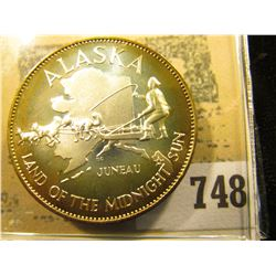 """Alaska Land of the Midnight Sun"" So-called Half-Dollar. Superb Sterling Silver Proof, 32mm, 14.67 g"