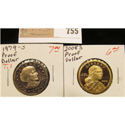 1979 S Gem Proof Type One Susan B. Anthony Dollar & 2008 S Gem Proof Native American (Sacagawea) Gol