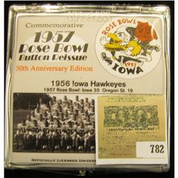 "127 of 500 ""Commemorative 1957 Rose Bowl Button Reissue 50th Anniversary Edition"" in original plasti"