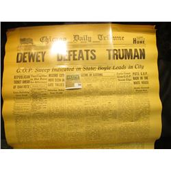 "(2) Original Issues of the Great Event that never happened. ""Chicago Daily Tribune Wednesday, Novemb"