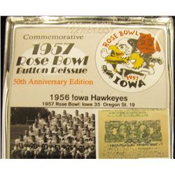 "208 of 500 ""Commemorative 1957 Rose Bowl Button Reissue 50th Anniversary Edition"" in original plasti"