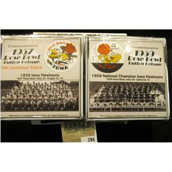 "209 of 500 ""Commemorative 1957 Rose Bowl Button Reissue 50th Anniversary Edition"" & 1959 Rose Bowl B"