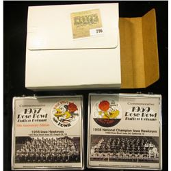 "211 of 500 ""Commemorative 1957 Rose Bowl Button Reissue 50th Anniversary Edition"" & 1959 Rose Bowl B"