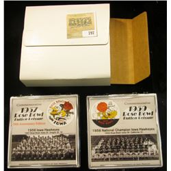 "212 of 500 ""Commemorative 1957 Rose Bowl Button Reissue 50th Anniversary Edition"" & 1959 Rose Bowl B"