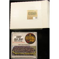 "193 of 500 ""Commemorative 1982 Rose Bowl Button Reissue 25th Anniversary Edition"" in original box an"