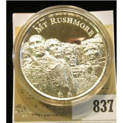 """Mt. Rushmore"", ""American Landmarks 2 oz. .999 Fine Silver"", Proof, High-relief, encapsulated."