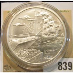 "2015 ""Welcome to Silverbug Island 1 Troy oz..999 Fine Silver"" Obv. depicts a Pirate Ship, Treasure C"