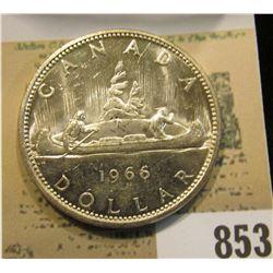1966 Canada Silver Dollar, Gem BU.