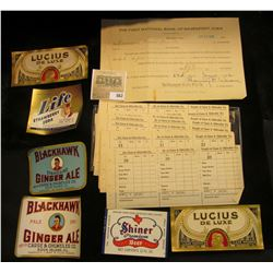 """A group of Pre-prohibition order forms for Beer from """"Carse & Ohlweiler Co.""""; June 22, 1926 Collater"""
