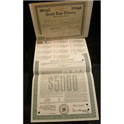 """1992 """"City of Davenport (Iowa) Home Ownership Mortgage Revenue Bond"""" for $5,000 with some coupons, s"""