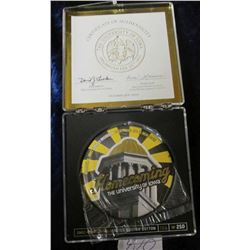 """""""Homecoming 2003 Old Capitol Limited Edition Button #186 of 250"""" in original box of issue. Story on"""