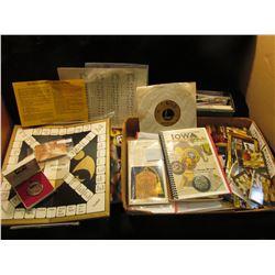 A large accumulation of Iowa Hawkeyes memorabilia including a One Ounce .999 Fine Silver Hawkeye Med