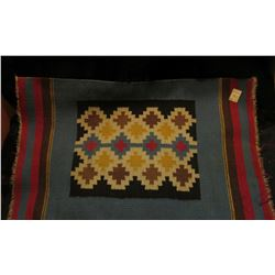 """16"""" x 26"""" Native American Indian Woven Rug. Doc had this valued at $195 in his collection."""