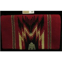 """""""Chimayo (Indian) Purse Hand Woven Hand Tailored"""", Fold-over clutch with Sterling Silver thunderbird"""