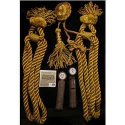 Gold Braided Rope Ties; 1929 S Solid date & 30 S Solid Date Lincoln Cents. (Bob says the Ropes came