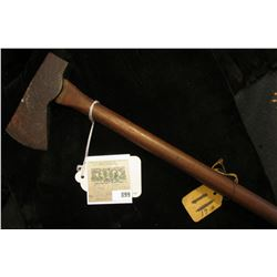 """""""Indian Tomahawk from Mound in Rockingham, Virginia. Celt type handle. (Doc couldn't make up his min"""