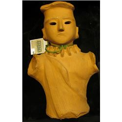 """Doc has this 11"""" in height Terra Cotta Effigy Bust labeled that it was from China. He valued it at $"""