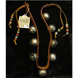 """Doc says this set of bells was """"Bought from the 1930 Indian Show!"""" An interesting set of beaded Bell"""