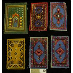Group of (6) Old Persia Tobacco Rugs. Doc's note said they make good Doll House rugs.