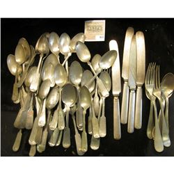 Large group of 19th Century Silver-plate Silverware and Pewter Ware.  Ideal for making jewelry, wind